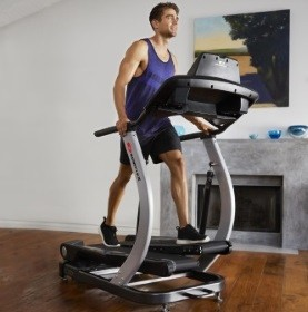 home gym with an elliptical trainer