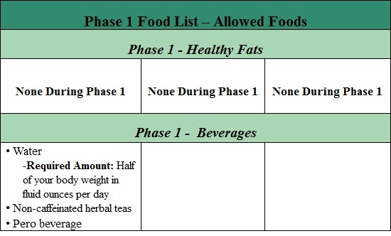 fast metabolism diet phase 1 list of allowed foods part 6